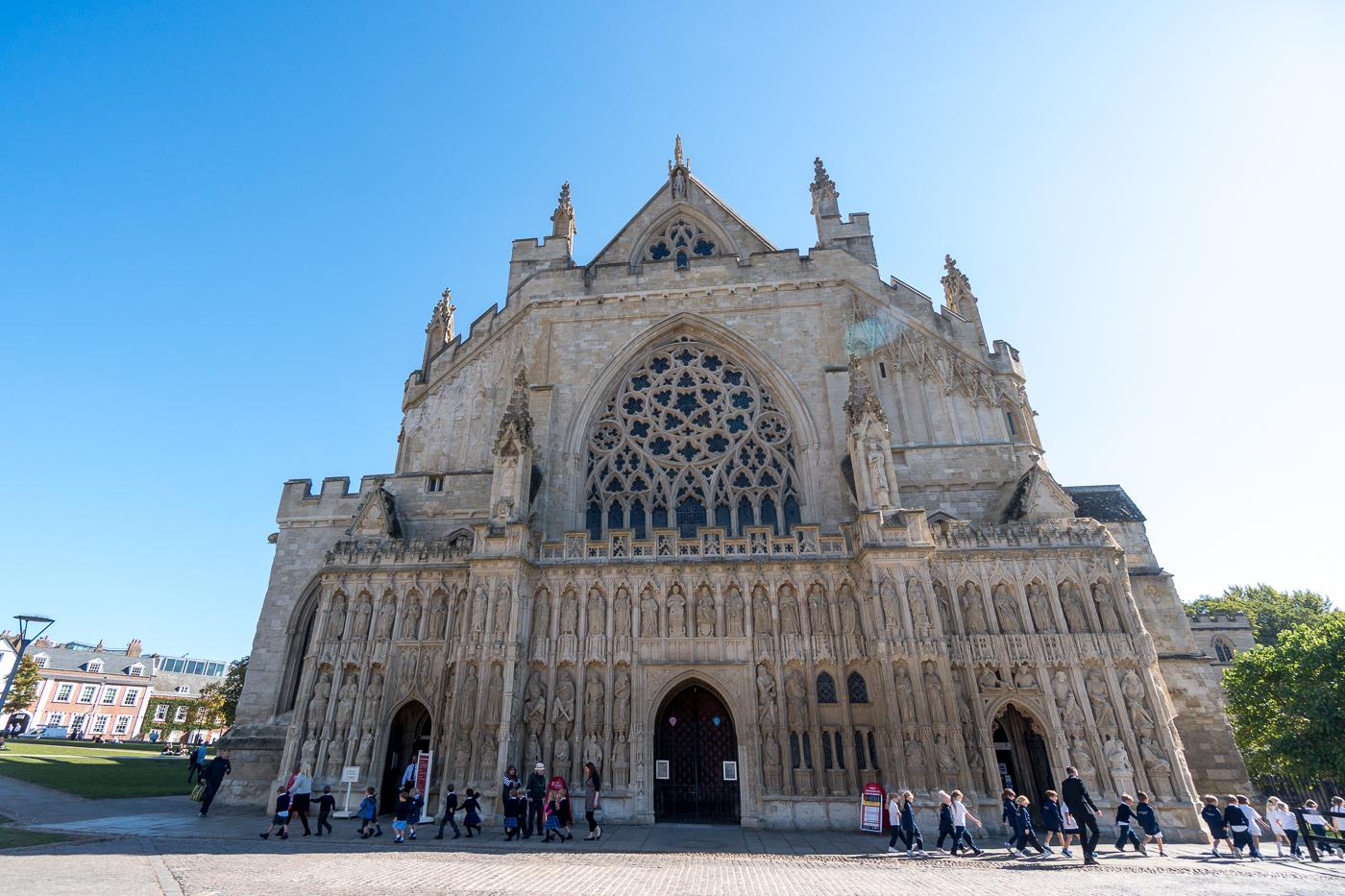 façade de la cathédrale d'Exeter
