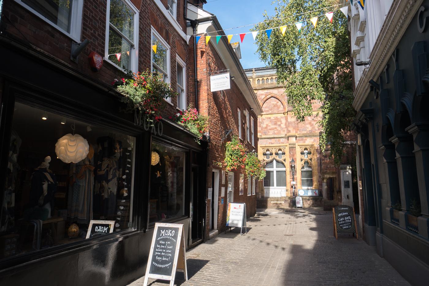 Petite ruelle mignonne - Quoi faire à Exeter en Angleterre