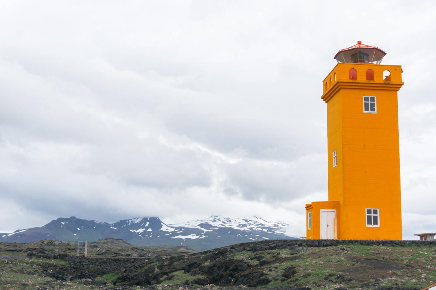 Phare orange - Péninsule de Snaefellsnes - Quoi voir en Islande?