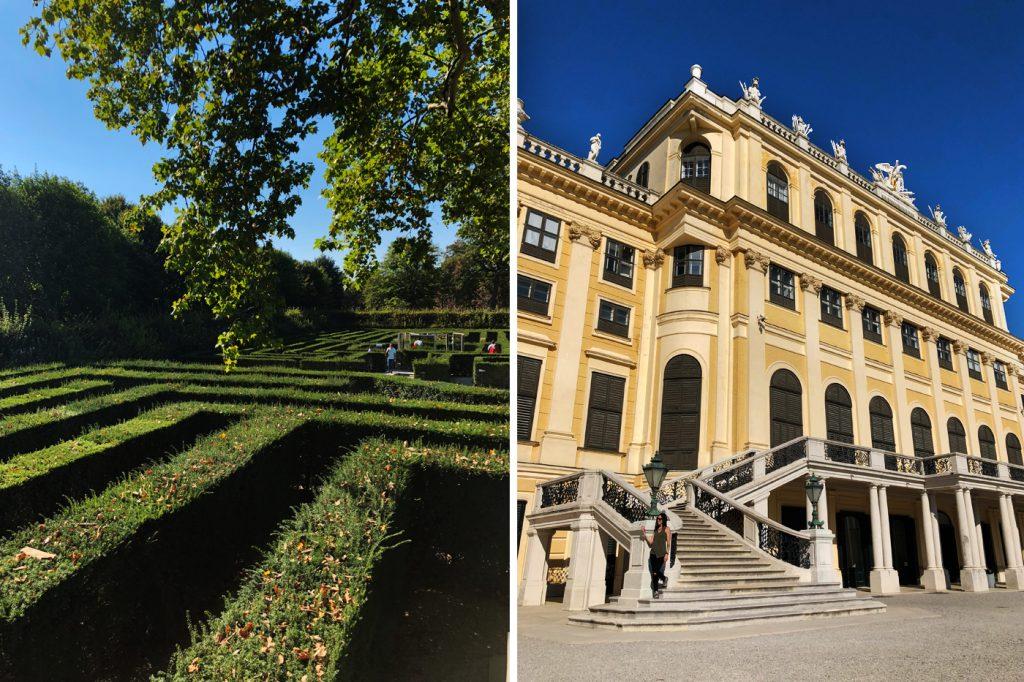 Extérieur du Schloss Belvédère de Sissi