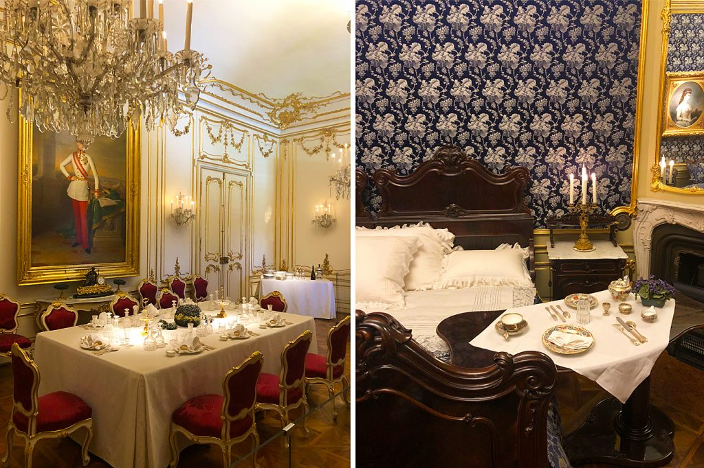 Intérieur du Schloss Belvedere de Sissi à Vienne