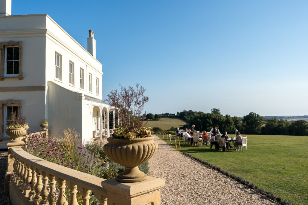 Jardin-terrasse du Lympstone Manor