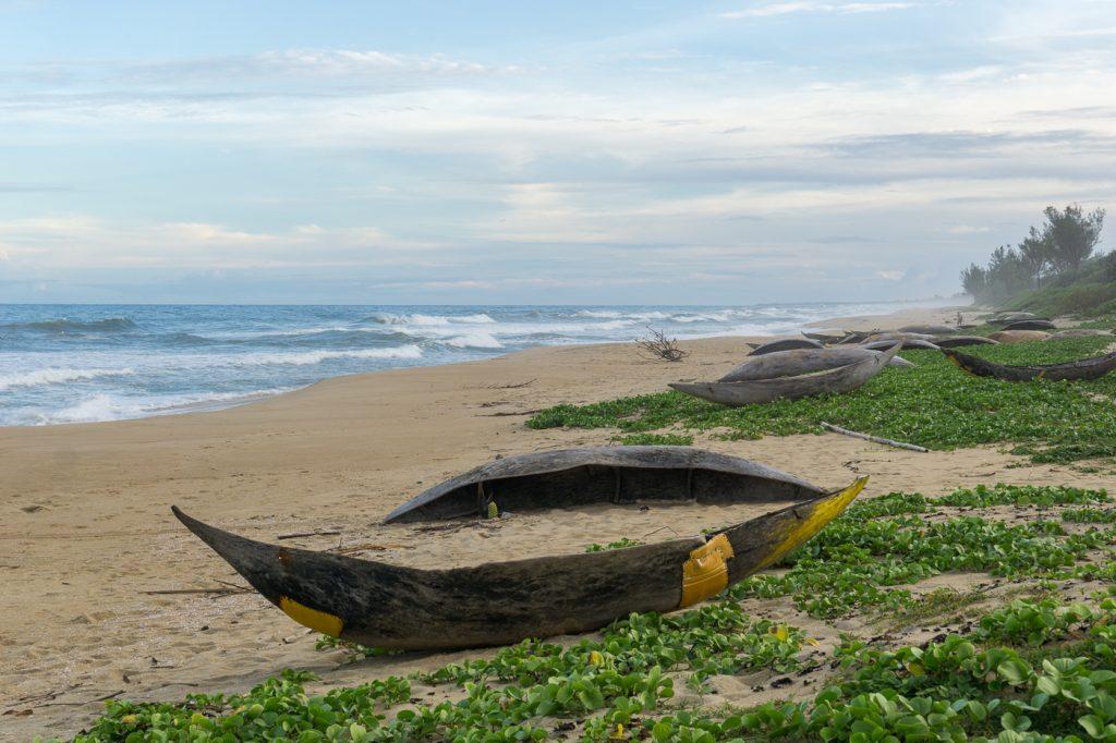 Pirogues de pêche locale à Madagascar