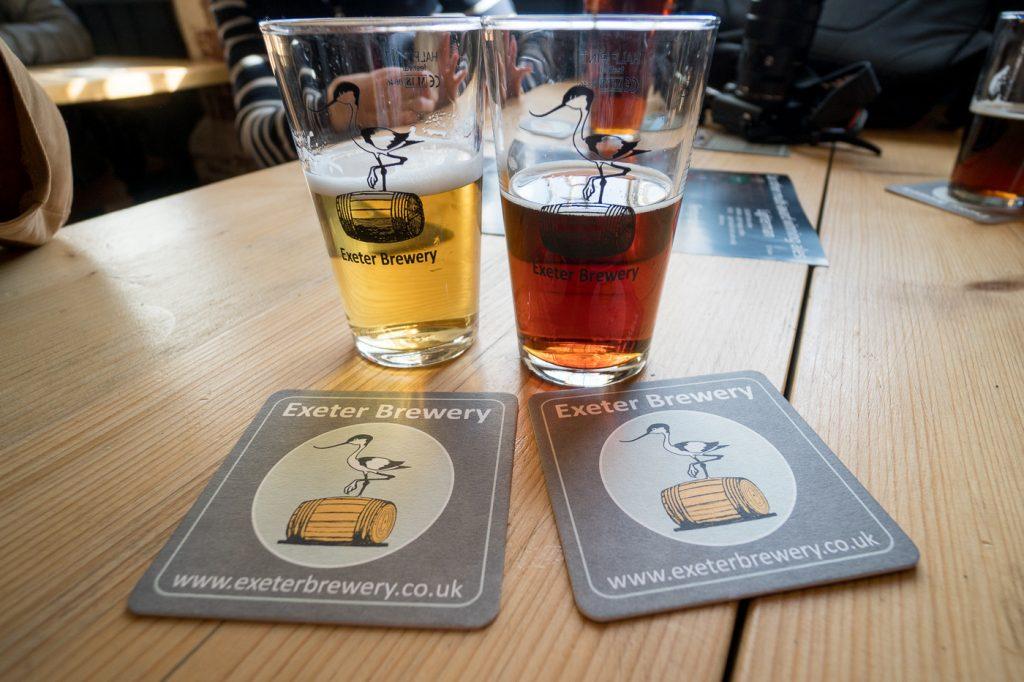 Verres de bière - Exeter Brewery - Où boire à Exeter
