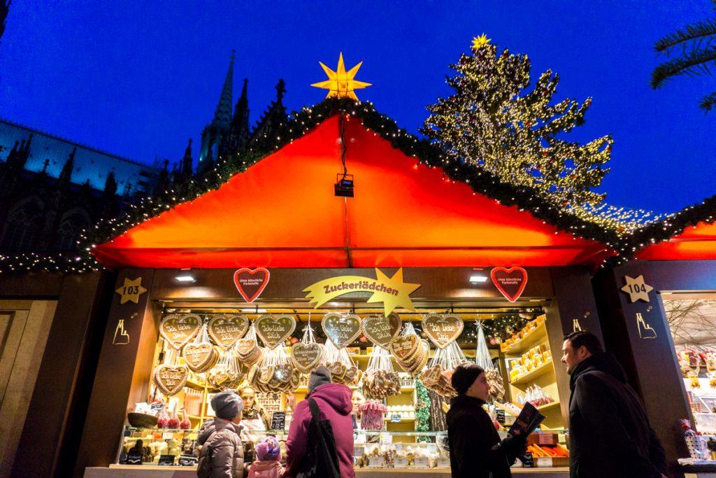 Zuckerlaedchen - Marché de Noël de Cologne - Köln, Allemagne