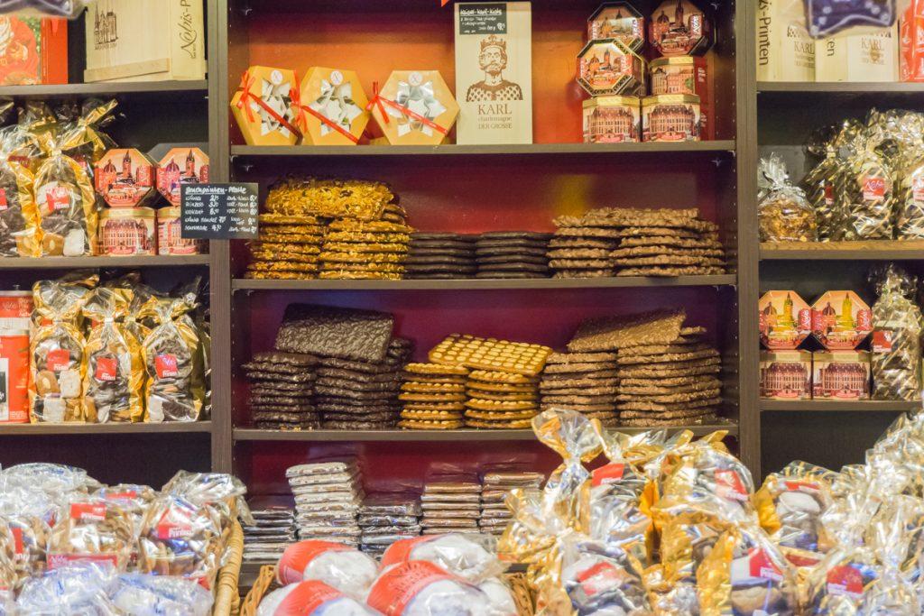 Étalage de Lebkuchen - Biscuits typiques à manger en Allemagne