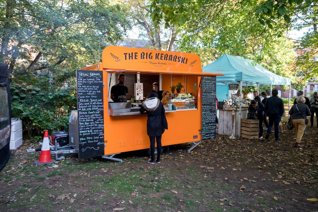 Kiosque de street food du Southernhay Street Food Market d'Exeter