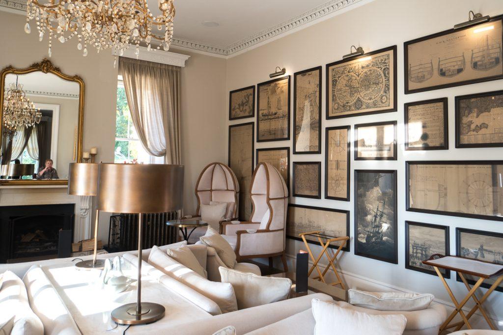 Lounge du Lympstone Manor - Étoilée Michelin où manger à Exeter
