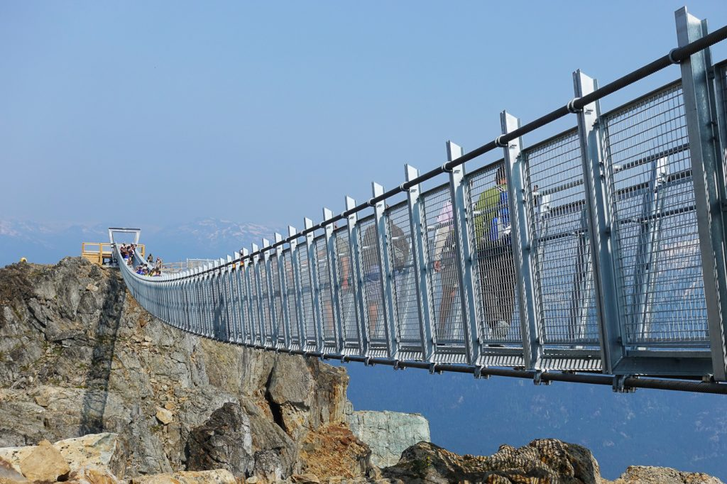 Pont suspendu Cloudraker Skybridge de Whistler