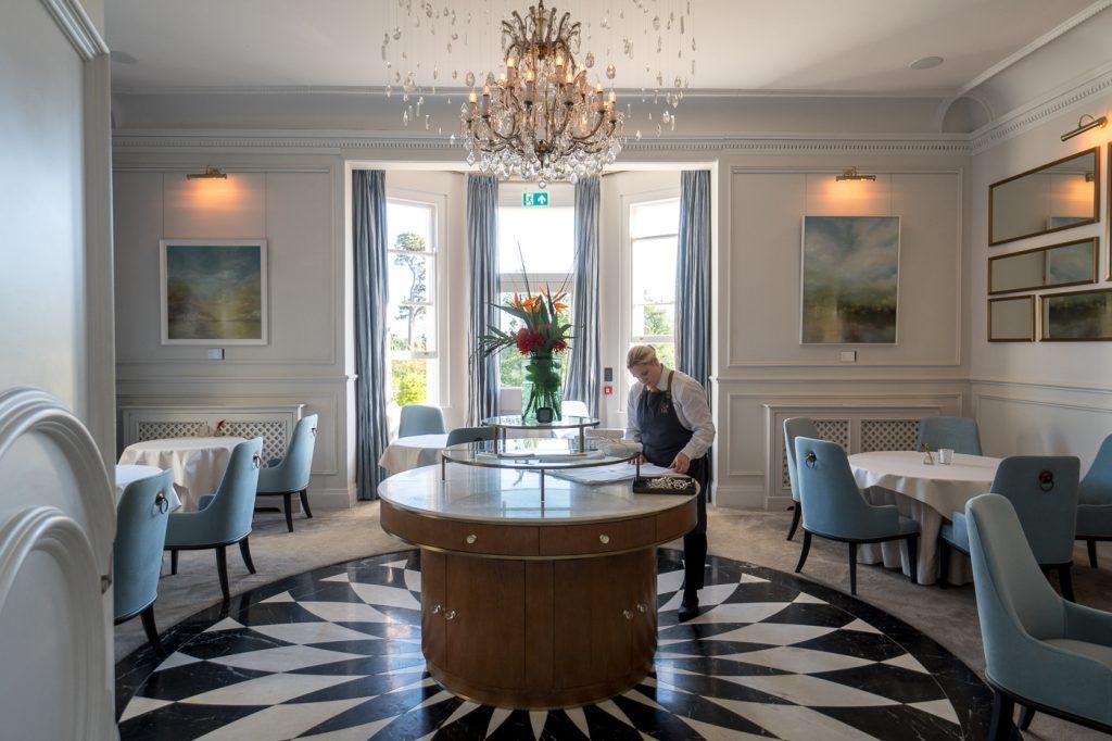 Salle à manger de l'étoilé Michelin Lympstone Manor