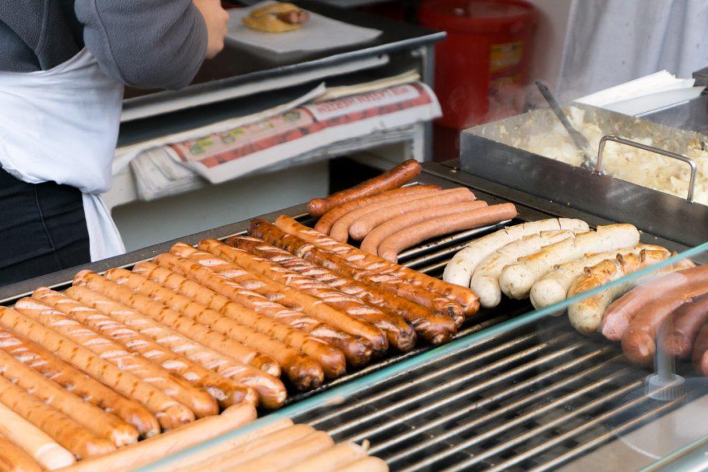 Saucisses - Wurst - Quoi manger à Freiburg en Allemagne