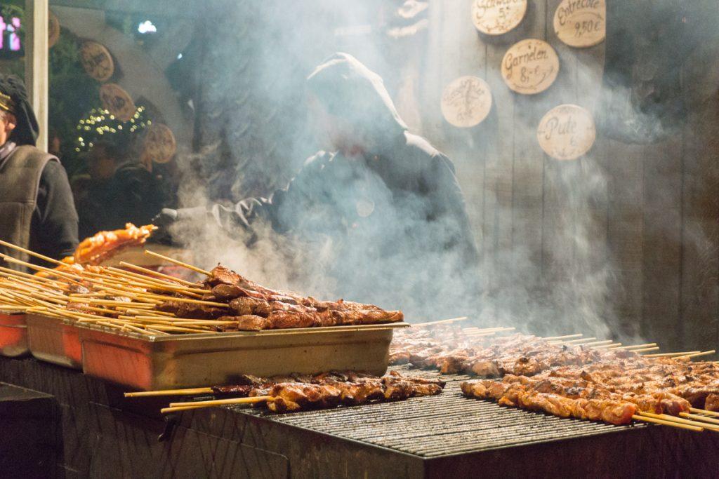 Viande sur le grill