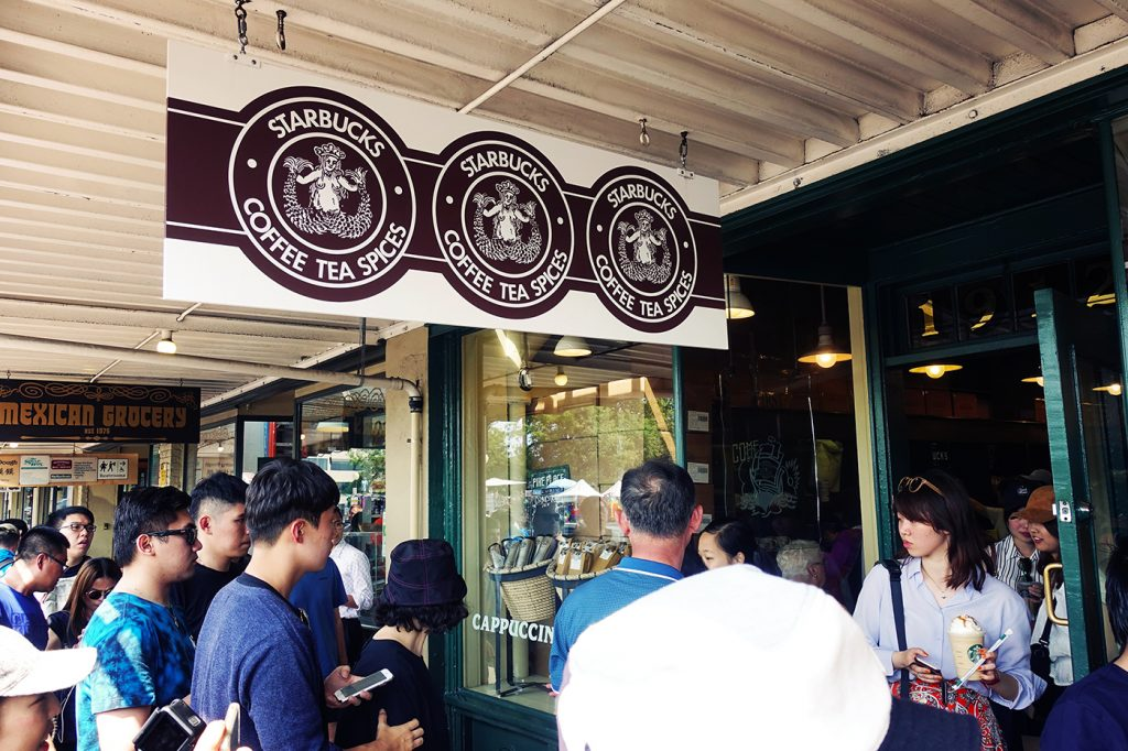 Visite du premier Starbucks à Seattle