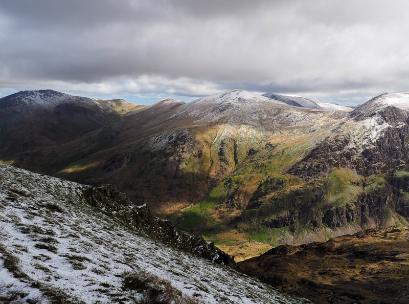 Vue du sommet du mont Snowdon - Pays de Galles - Annie Anywhere