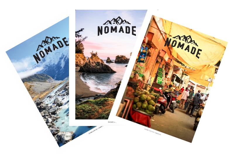 Trio de magazines Nomade