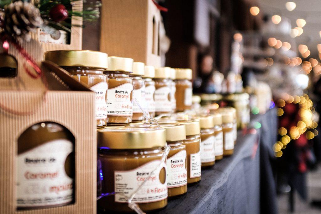 Pot de caramel - Idée-cadeau en visite au marché de Noël du Vieux-St-Jean en Montérégie