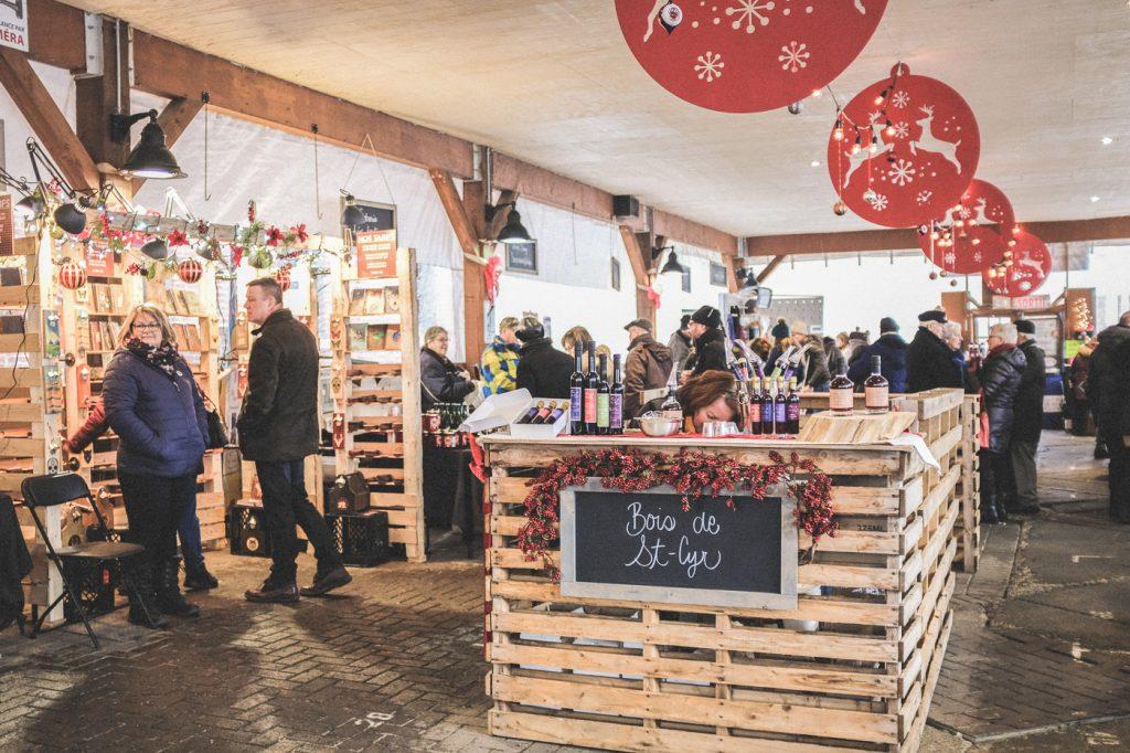 Kiosque du marché de Noël de St-Jean-sur-Richelieu, Québec