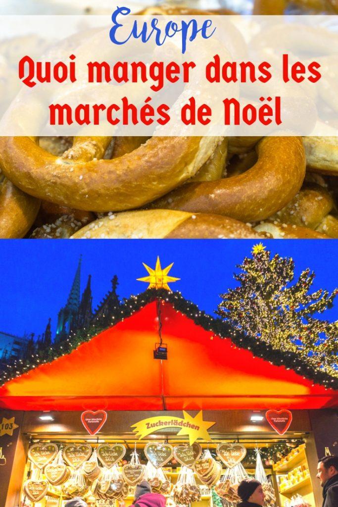 Quoi manger dans les marchés de Noël en Europe