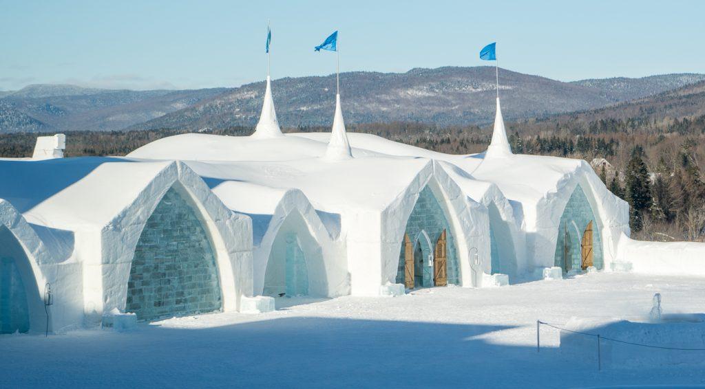 Arrivée à l'hôtel de glace de Québec City