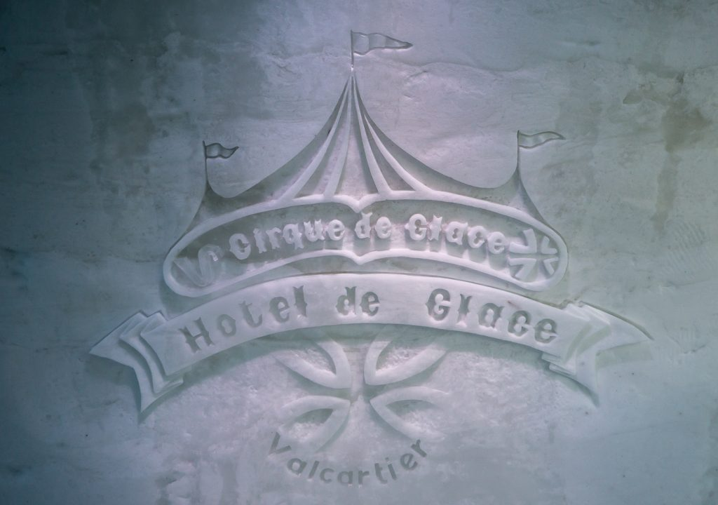 Cirque de glace - logo de l'hôtel de glace