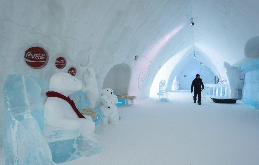 passages de l'hotel de glace