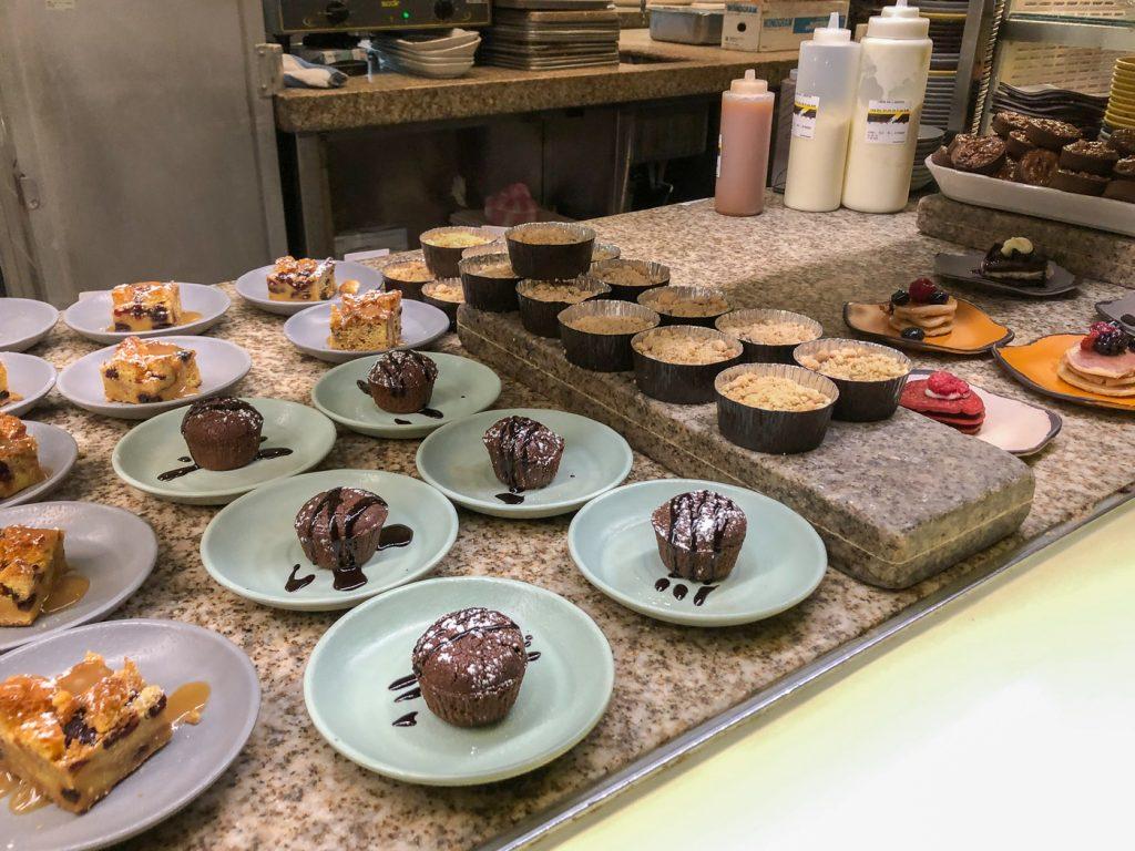 Bacchanal Buffet - comptoir de desserts du Ceasars Las Vegas