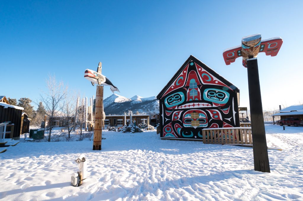 Carcross Commons du Yukon - art autochtone
