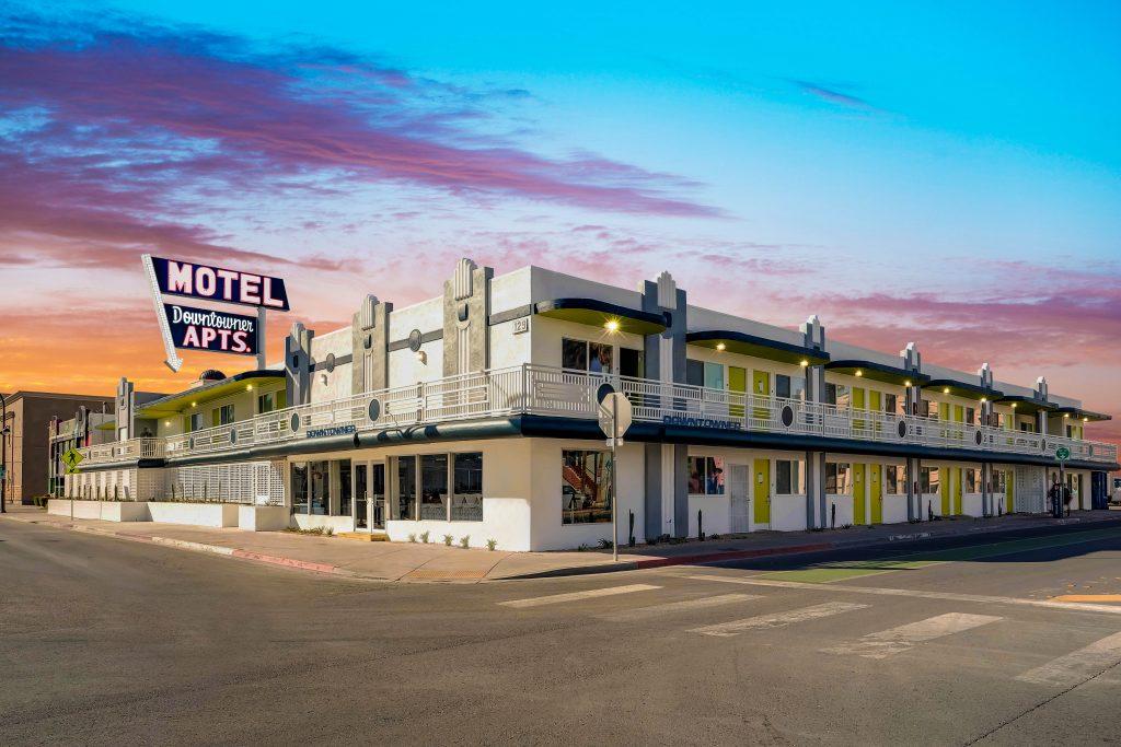 Façade du Downtowner Motel de Downtown Las Vegas