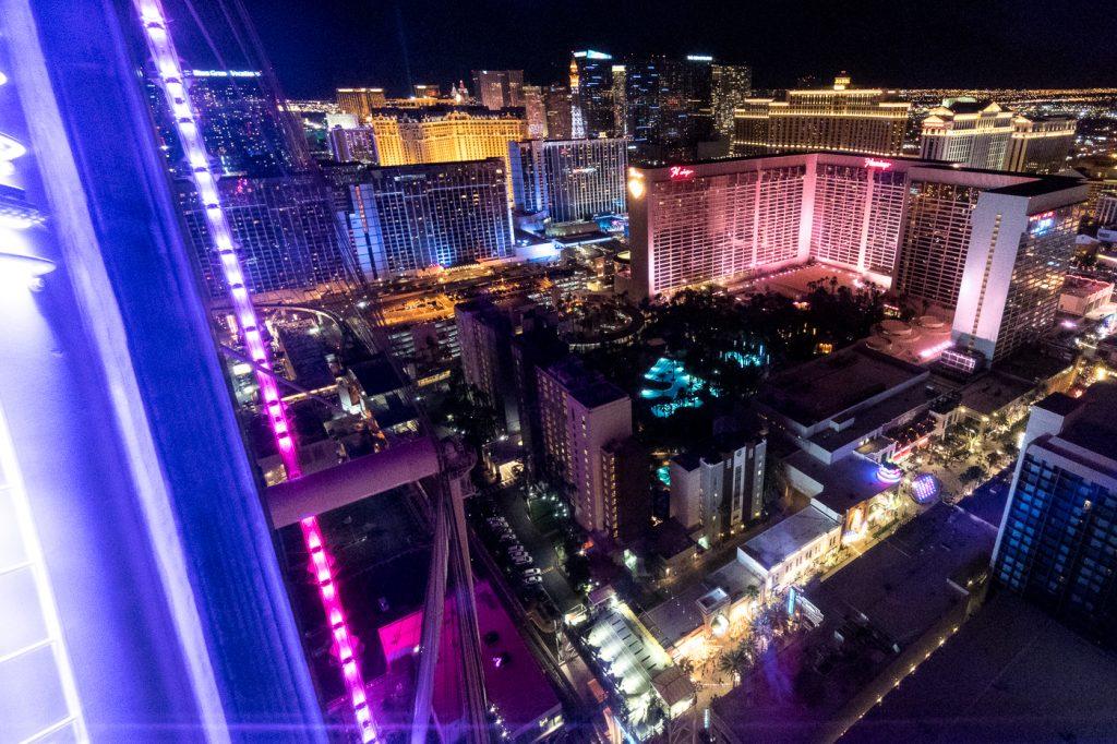 Vue du High Roller - Quoi faire à Las Vegas à petit budget