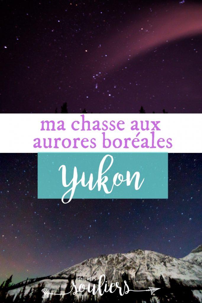 Ma chasse aux aurores boréales au Yukon, Canada