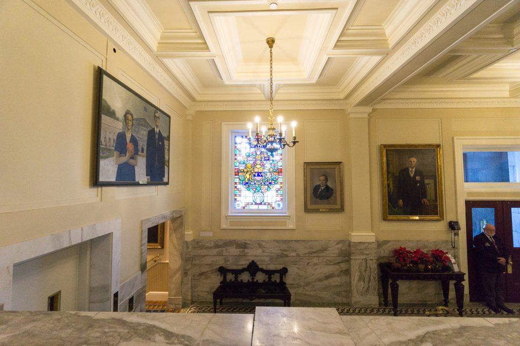 Hall d'accueil de Rideau Hall, voyage à Ottawa