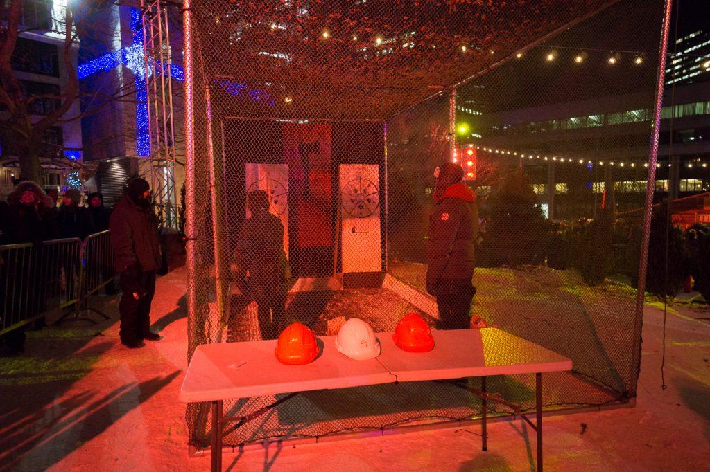 lancer de hache - Quoi faire au Carnaval de Québec