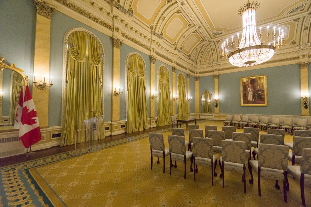 Salle du Canada - Rideau Hall, gouverneur général
