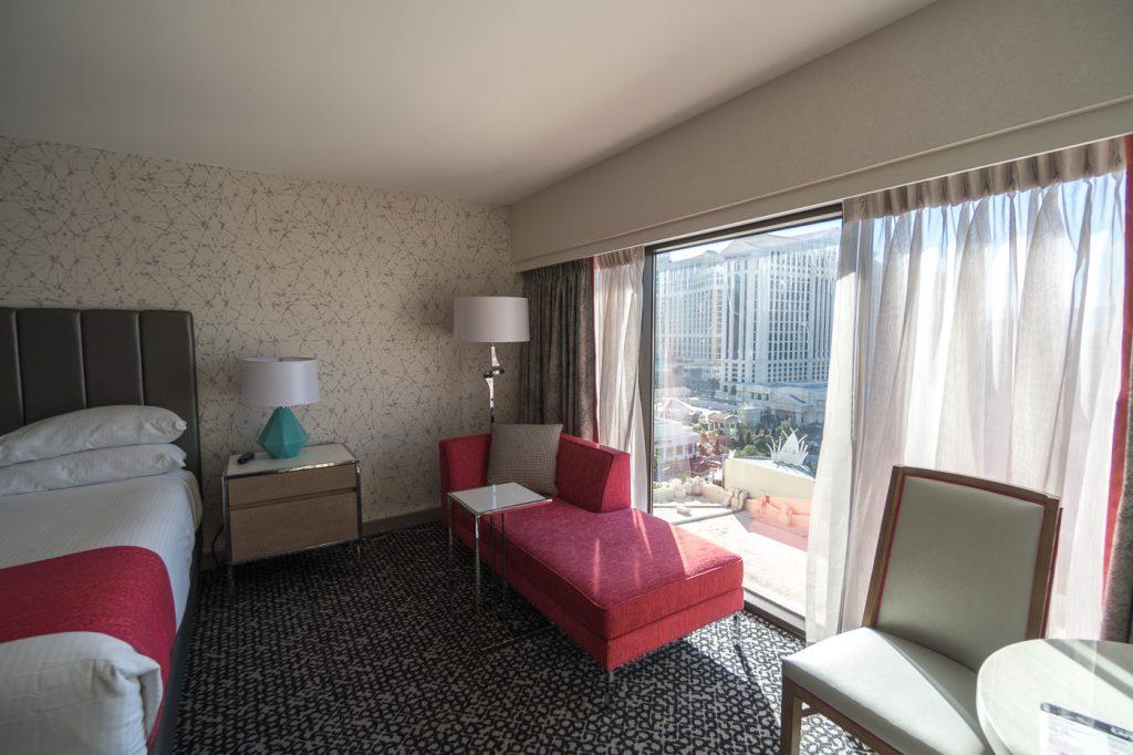 Vue de ma chambre au Flamingo Hotel - Hébergement pas cher à Las Vegas