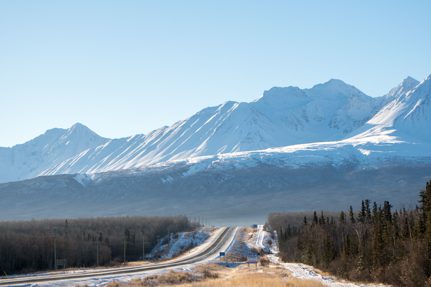 Vue des montagnes du parc national Kluane, Haines Junction, Yukon
