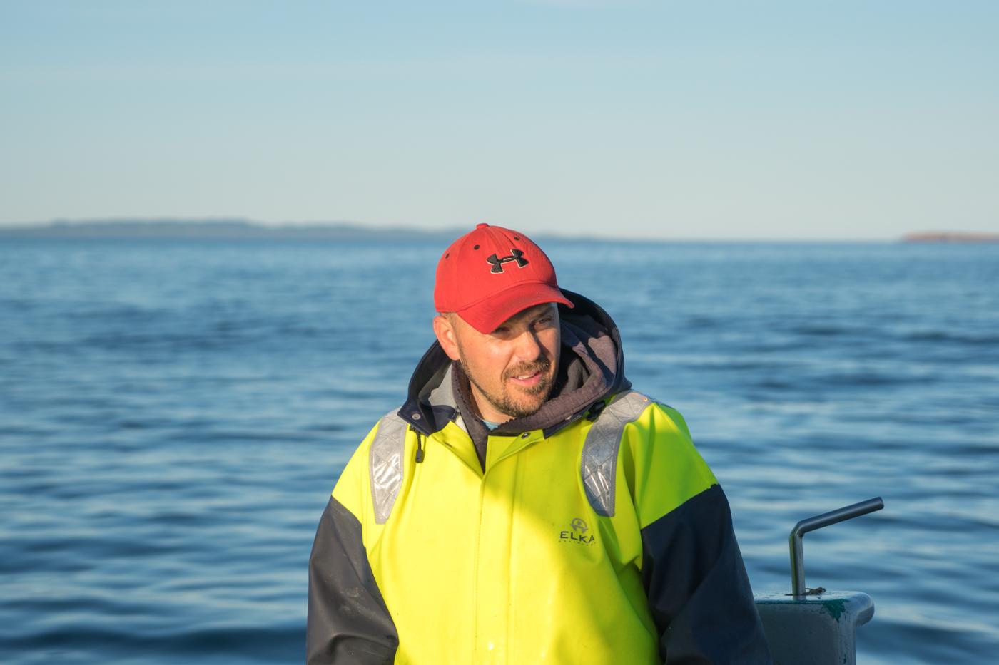 Kaven Aucoin, pêcheur de homard des îles de la MAdeleine