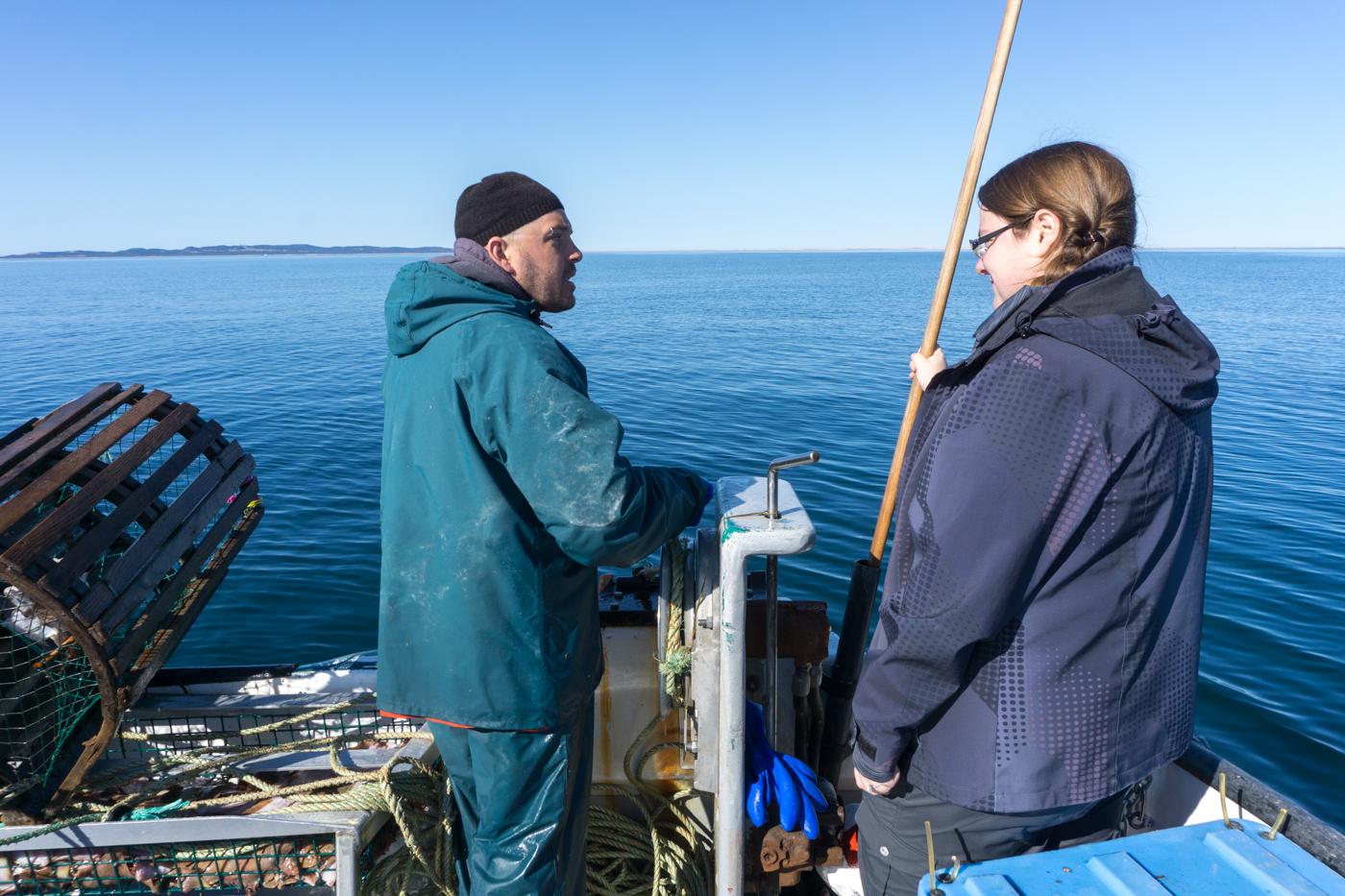 Kevin et Jennifer, apprentissage de la pêche au homard