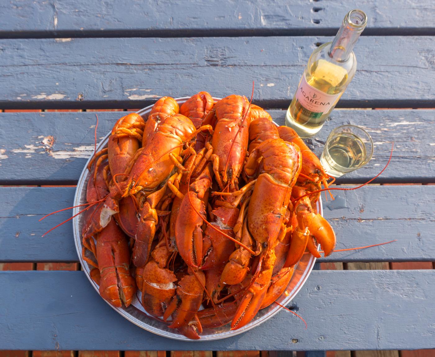 mess de homard en voyage aux îles de la Madeleine