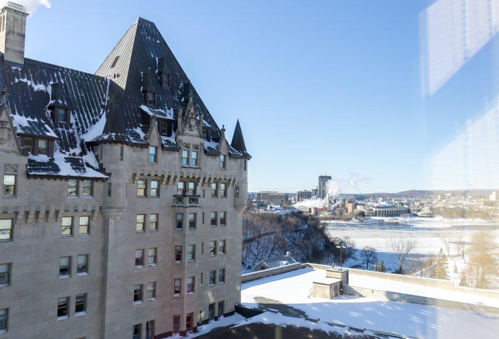 Vue du Fairmont Château Laurier d'Ottawa