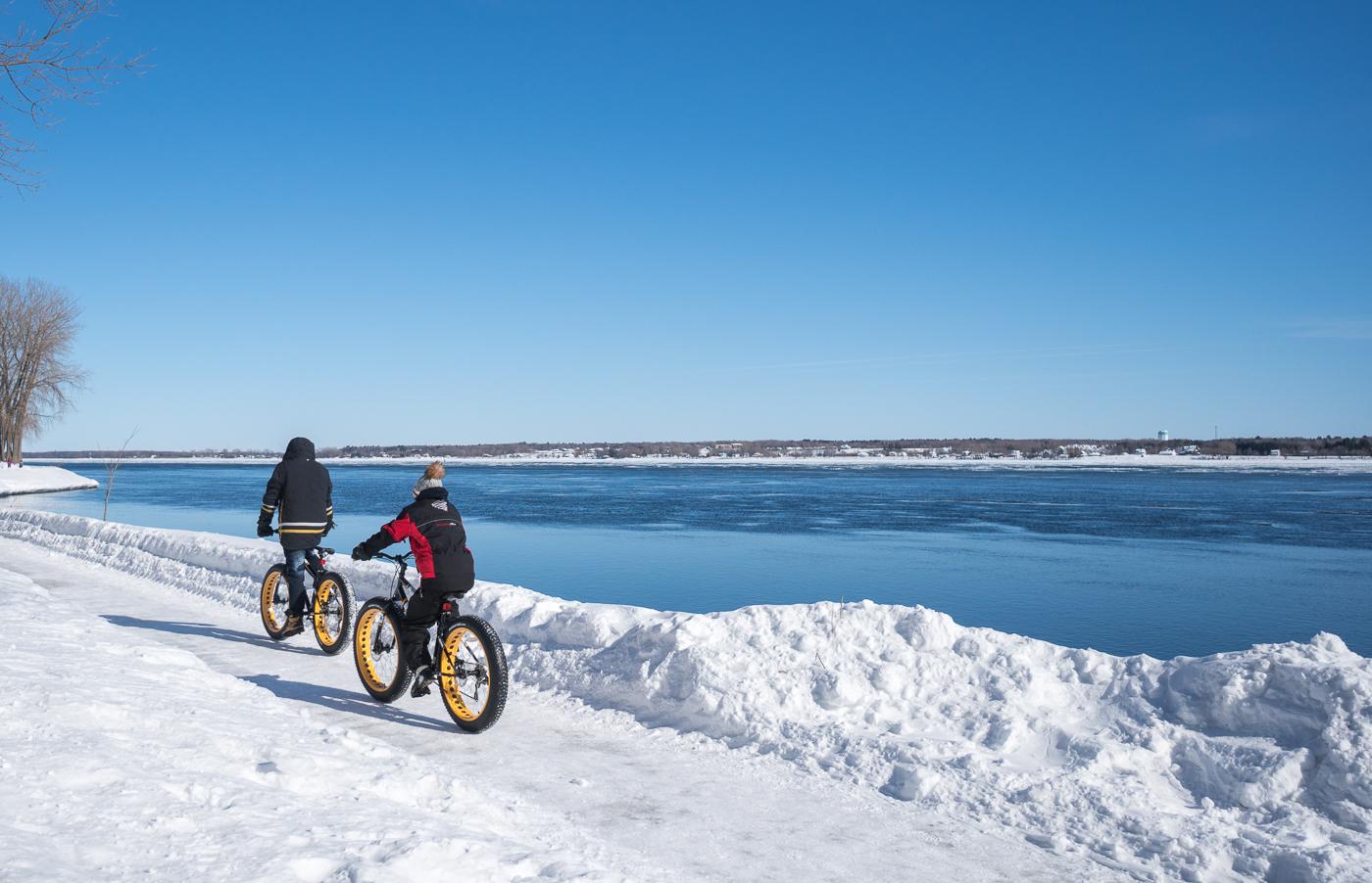 À faire à Trois-Rivières, fat bike près du fleuve