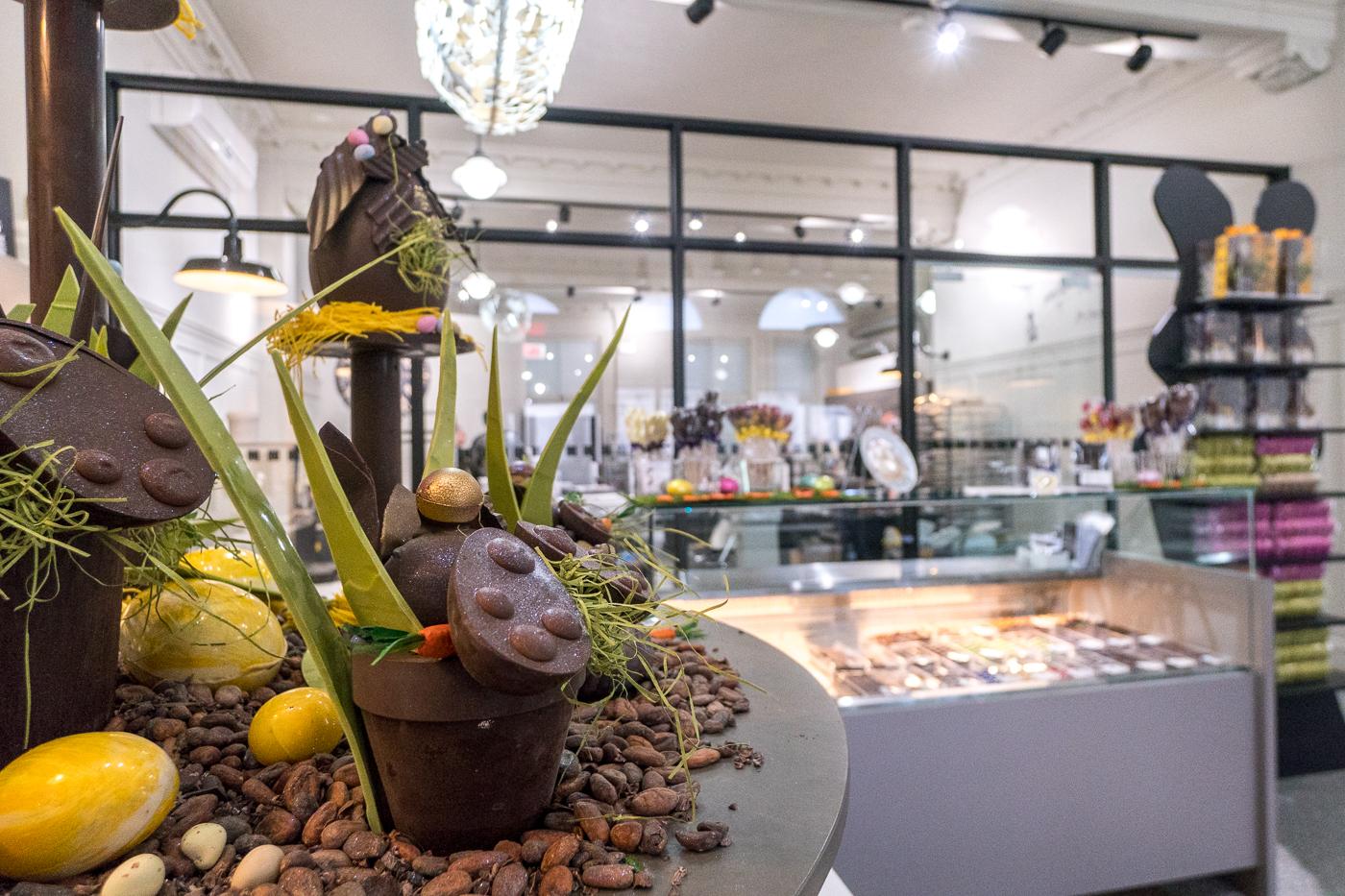 Chocolats artistiques de la Chocolaterie Samson