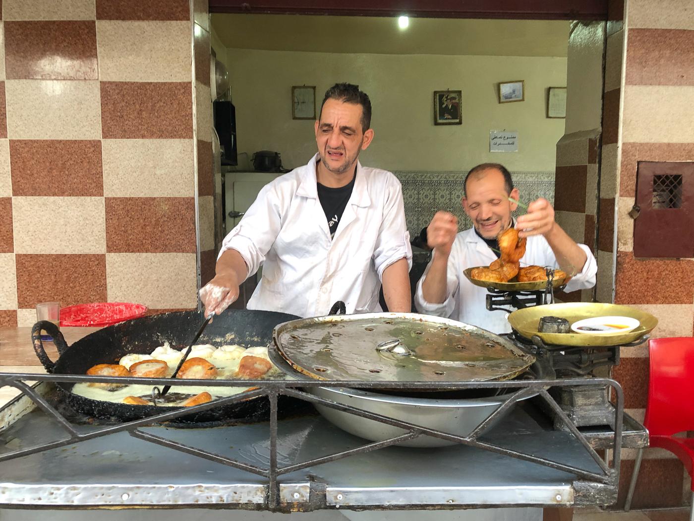 Restaurant de street food à Marrakech - Sfenj/Beignes