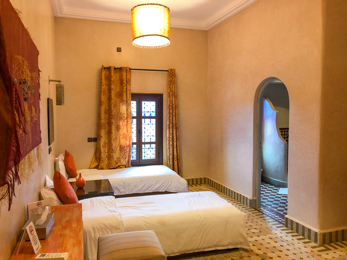 Notre chambre au Riad Azawad à Merzouga près d'Erfoud, Maroc