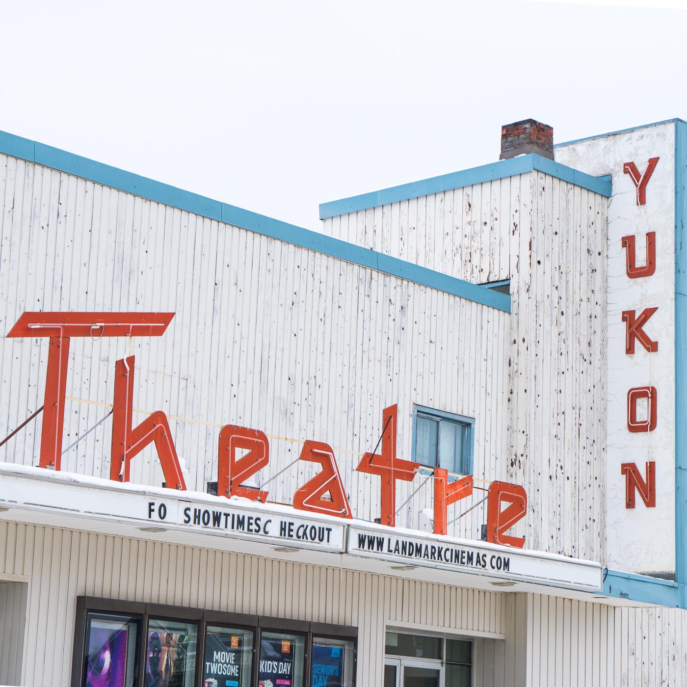 Façade du Yukon Theatre de Whitehorse