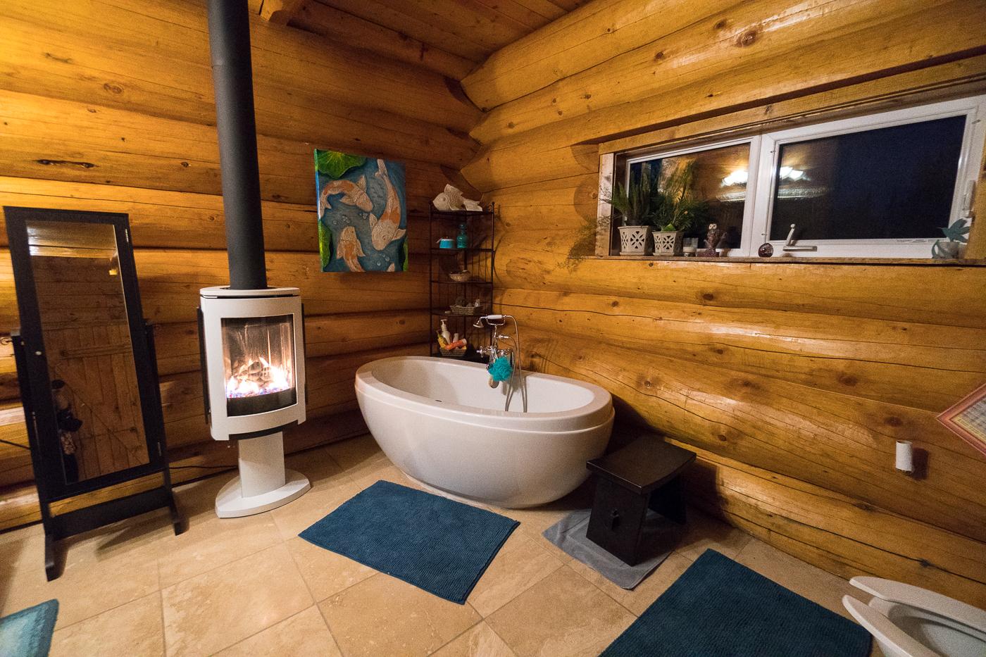 Salle de bains du Gray Ridge Lodge du Yukon