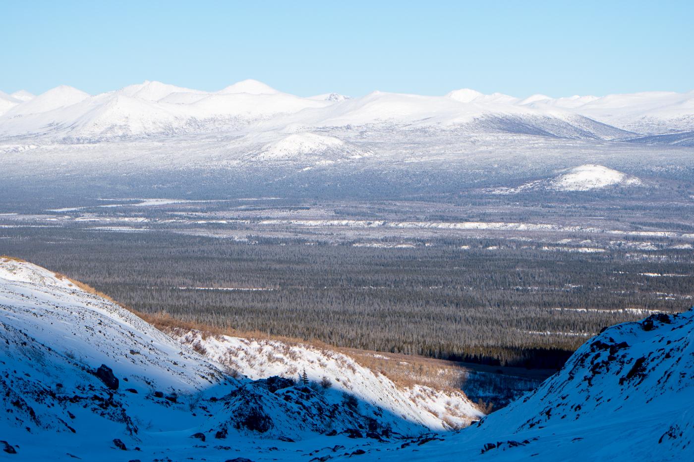 Vue de la grotte de glace de Haines Junction - Montagnes de Kluane National Park, Yukon