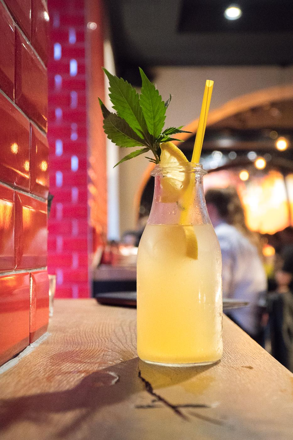 Cocktail limonade au chanvre du Freigeist de Graz