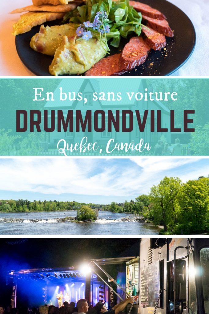 Drummondville, Québec sans voiture, en bus