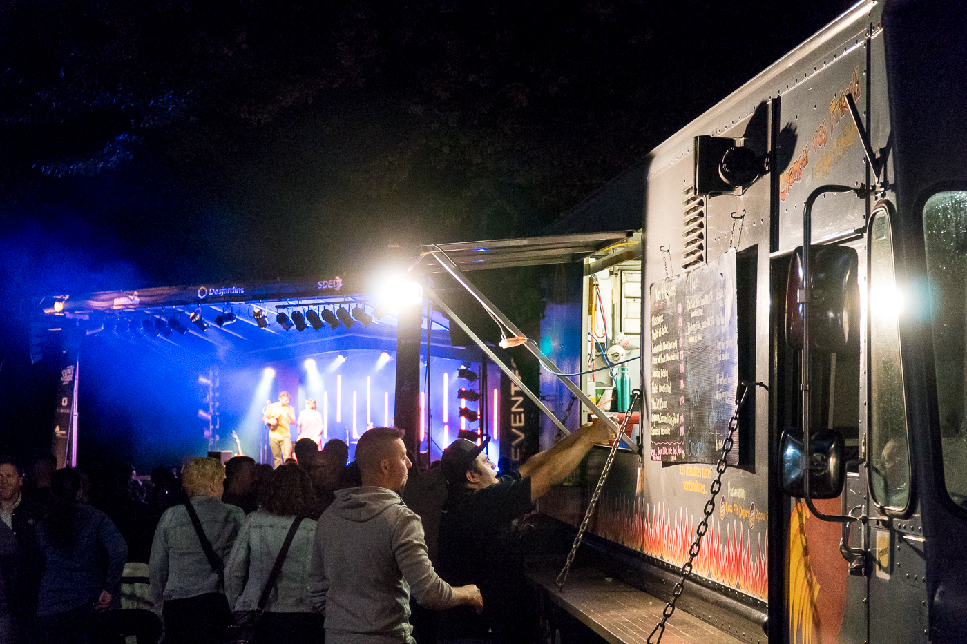 kiosque de street food - Festival Drummond en bière