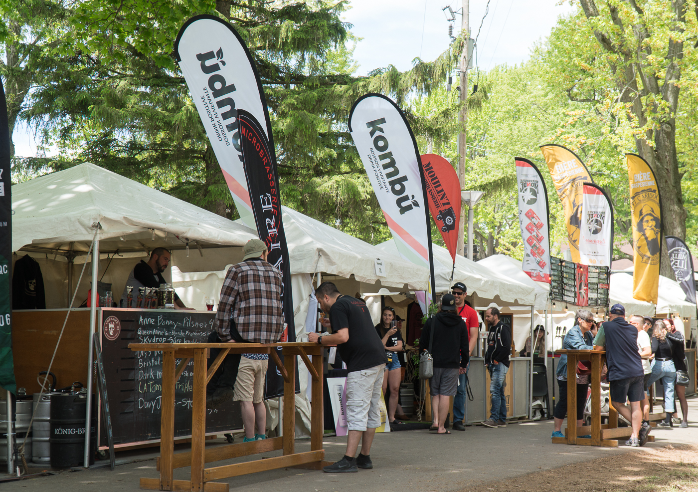 kiosque de bière - Festival Drummond en bière